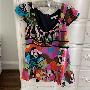 Nanette Lepore multi print blouse